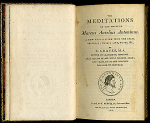 Meditations - First page of the 1792 English translation by Richard Graves