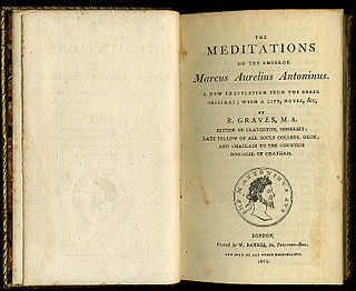 <i>Meditations</i> literary work by Marcus Aurelius