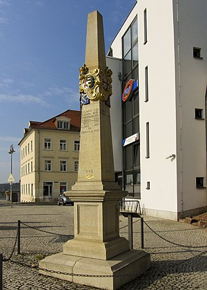 Meissen - Polish-Saxon post milestone