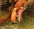 Meister francke, altare di santa barbara, amburgo 1420 circa, dalla chiesa di kalanti, 03 inseguimento e tradimento dei pastori 2.JPG