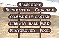 Melbourne Iowa 20090215 Rec Complex Sign.JPG