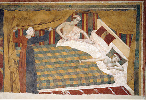 Memmo di Filippuccio - Profane love scenes- The spouses retired to bed - Google Art Project