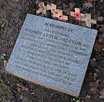 Memorial Andrew Leslie Jackson WWII pilot Banstead Downs UK.jpg