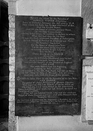 Howell Harris - Memorial; Trefeca.