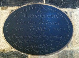 George William Symes - Memorial to George and Katherine Symes in Sheffield Cathedral