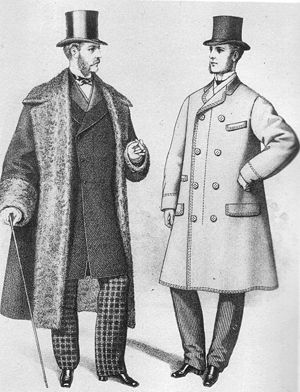 Overcoat - Overcoat (left) and topcoat (right) from The Gazette of Fashion, 1872.