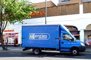 John Menzies - A Menzies Distribution van delivering newspapers in London