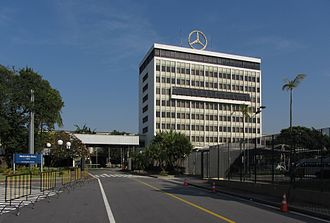 Headquarters of Mercedes-Benz Brazil in Sao Bernardo do Campo Mercedes-Benz Brazil Central Office (2012).jpg