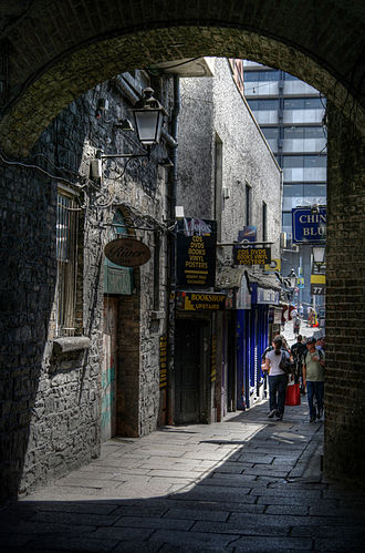 Temple Bar, Dublin - Entrance from Merchant's Arch