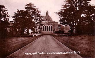 Mereworth Castle - Mereworth Castle, a postcard franked 1911.
