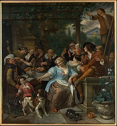 Jan Steen: Merry Company on a Terrace