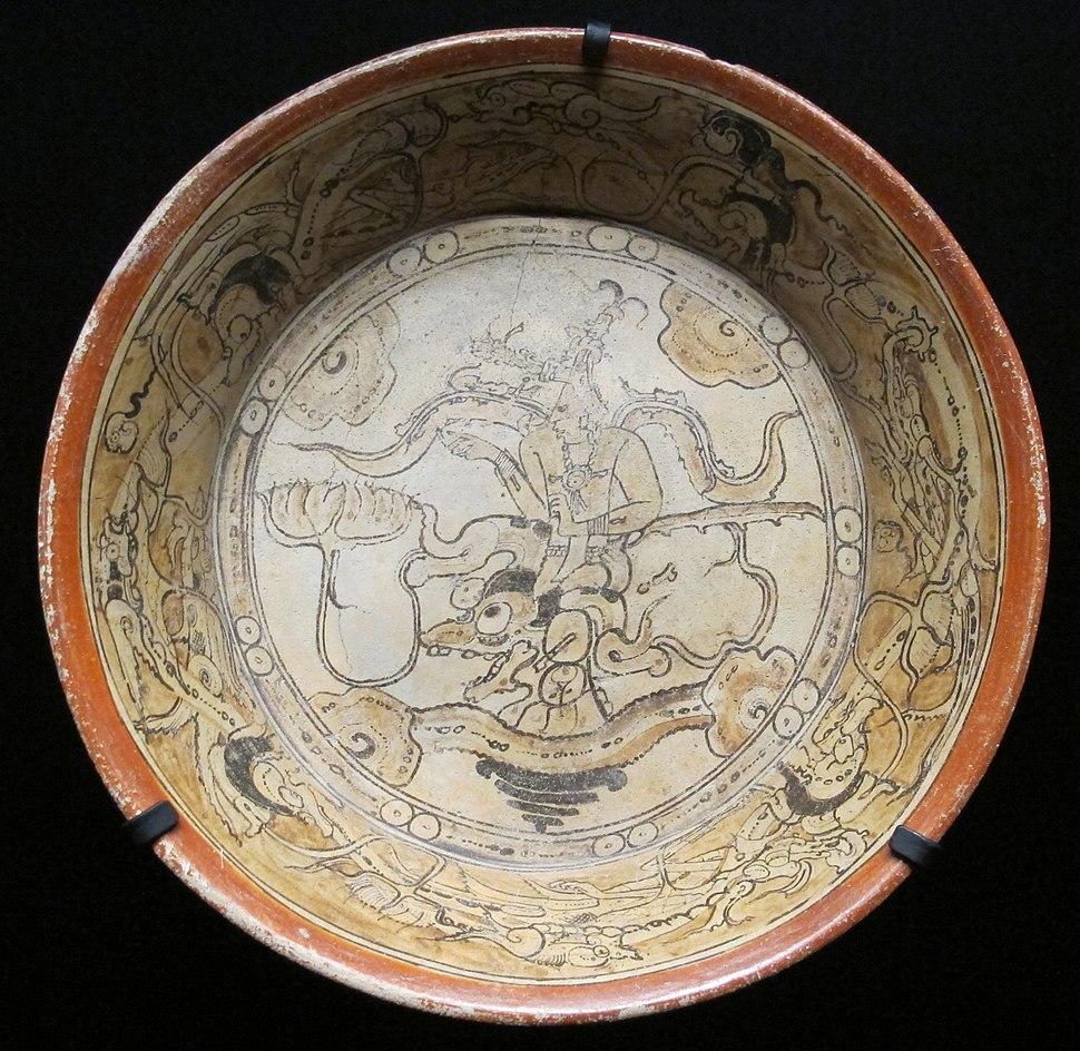 Messico, maya, piatto da calakmul, 600-800 ca.