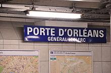 Porte d orl ans m tro paris wikipedia - Arrondissement porte d orleans ...