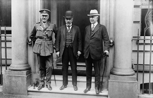 Albert Edward Kemp - Sydney Chilton Mewburn, Robert Borden, and Albert Kemp in London, England in July 1918