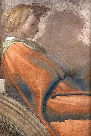 Nahshon - Michelangelo - Sistine Chapel lunette Naason