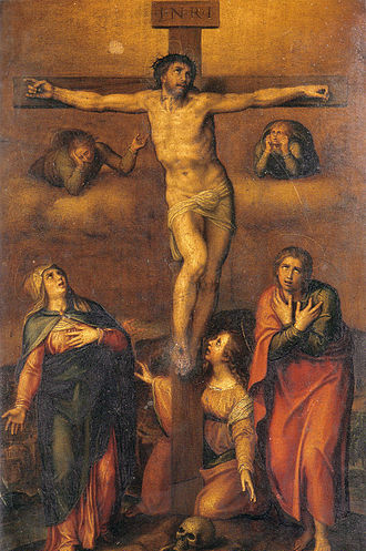 Sayings of Jesus on the cross - Michelangelo: Crucifixion of Christ, 1540