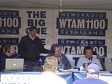 Mike Trivisonno pregame at Progressive Field.jpg