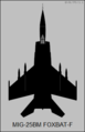 Mikoyan-Gurevich MiG-25BM top-view silhouette.png