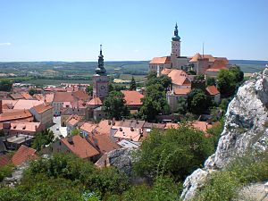 Mikulov - Old town centre and castle