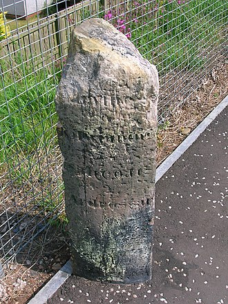 Ardrossan - Old Toll Road milestone near North Beach