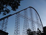 Millennium Force train on lift hill.jpg