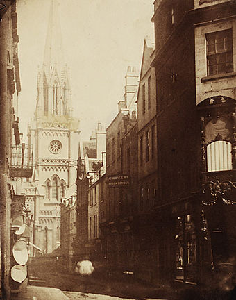 An 1850s photograph of Green Street Milson street, Bath (4052079943).jpg