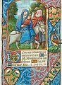"""Miniatur """"Flucht nach Ägyten"""", Stundenbuch, Frankreich (um 1500).jpg"""