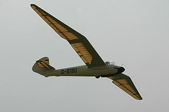 "Gliding - The ""gull wing"" Göppingen Gö 3 Minimoa produced in Germany from 1936"