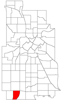 Location of Kenny within the U.S. city of Minneapolis