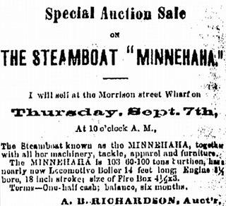 <i>Minnehaha</i> (sternwheeler) sternwheeler steamboat