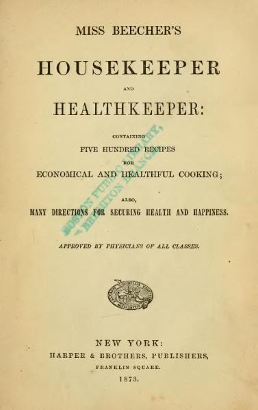 File:Miss Beecher's Housekeeper and Healthkeeper.djvu