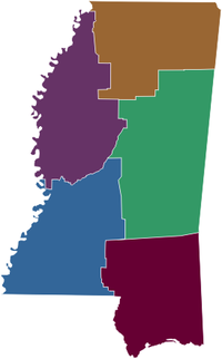 Regions of Mississippi