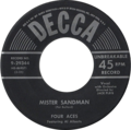 Mister Sandman by The Four Aces featuring Al Alberts US vinyl.png