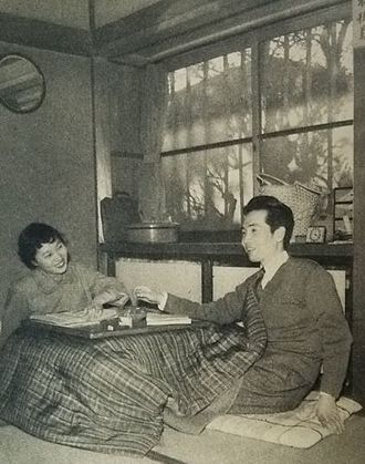 Shumon Miura - Miura with his wife in 1955