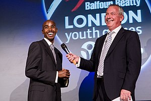 Somalis in the United Kingdom - Mo Farah at the 2010 London Youth Games Hall of Fame and Awards Evening.