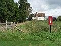 Monkton Up Wimborne, postbox No. BH21 111 and Manor Farm - geograph.org.uk - 953651.jpg