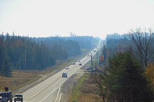 Mono, Ontario - Ontario Highway 10 through Mono