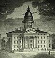 Montréal, vers 1850. Coin Nord-Est des rues Sainte-Catherine et Saint-Denis. (6936828332).jpg