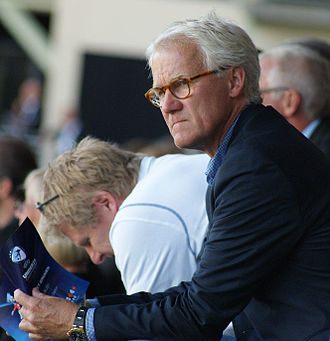 Morten Olsen - Olsen as national team manager, attending the 2011 European Under-21 Championship. Assistant manager Peter Bonde is to his left.