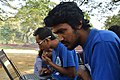 Motiur Rahman Oni & Rafaell Russell at Wikipedia 15 good article edit-a-thon and adda, Chittagong 1 (01).jpg