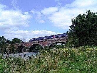 Moulsford Railway Bridge - Moulsford Railway Bridge (original) from downstream