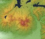 Mount Bandai Relief Map, SRTM-1.jpg