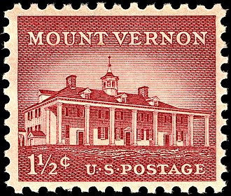 Liberty Issue - Image: Mount Vernon 1956 Issue 1+half cent