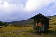 Liki North Hut is a small bothy that sleeps 8 and provides little more than shelter.