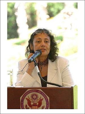Bharati Mukherjee - Speaking at the US Ambassador's residence in Israel, June 11, 2004