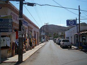 Mulegé - Street in town