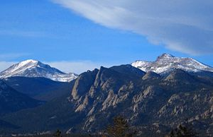 Mummy Range - Mummy Range seen from Lake Estes