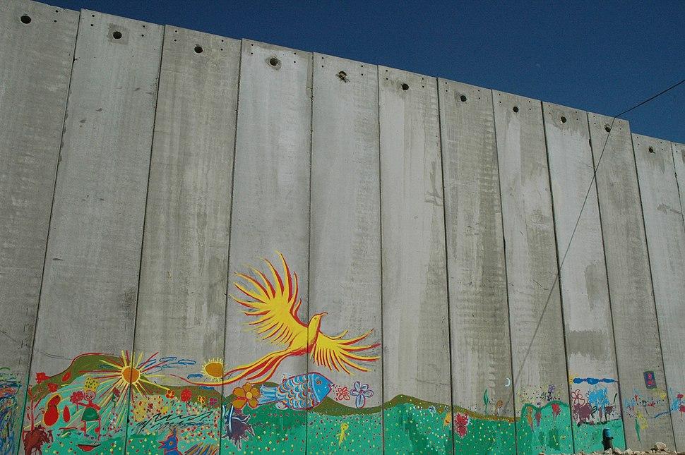 Mural on Israeli wall