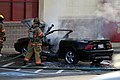 Mustang car fire at CVS on Key West Highway in North Potomac MD July 12 2012 (7575618808).jpg