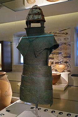 Mycenaean armour from chamber tomb 12 of Dendra 1.JPG